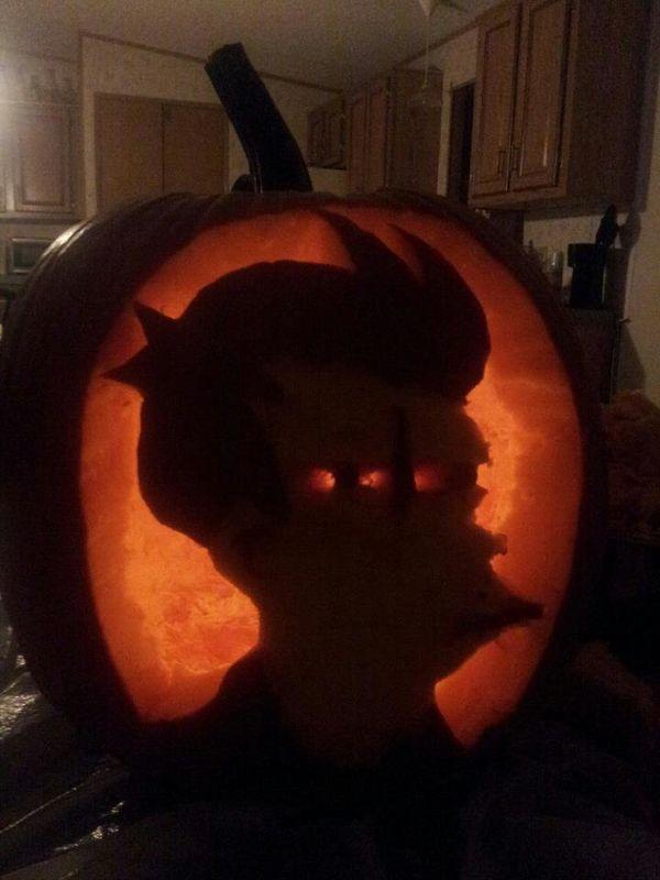 Not sure if Fry-shape pumpkin... or pumpkin-shaped Fry.