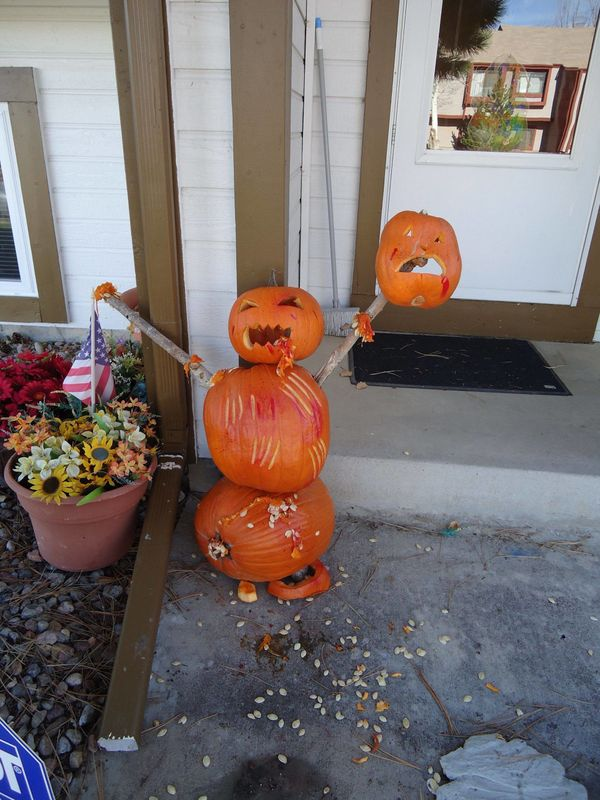 There's been a spike in pumpkin-on-pumpkin crime.