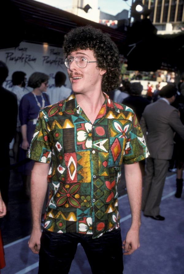 """Yankovic recorded his introductory parody (of The Knack's song """"My Sharona"""") in a college bathroom."""