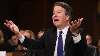 WASHINGTON, DC - SEPTEMBER 27: Supreme Court nominee Judge Brett Kavanaugh testifies before the US Senate Judiciary Committee in the Dirksen Senate Office Building on Capitol Hill September 27, 2018 in Washington, DC.  Kavanaugh was called back to testify about claims by Christine Blasey Ford, who has accused him of sexually assaulting her during a party in 1982 when they were high school students in suburban Maryland.  (Photo by Saul Loeb-Pool/Getty Images)