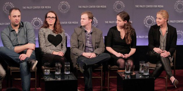 NEW YORK, NY - NOVEMBER 08:  ( L-R) Writers  Kurt Metzger, Jessi Klein, Co Creator and producer Dan Powell, Kim Caramele and