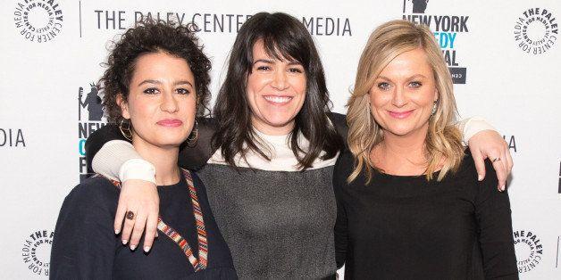 NEW YORK, NY - NOVEMBER 09:  (L-R)  Ilana Glazer, Abbi Jacobson, and Amy Poehler attend the 'Id Isn't Always Pretty: An Eveni