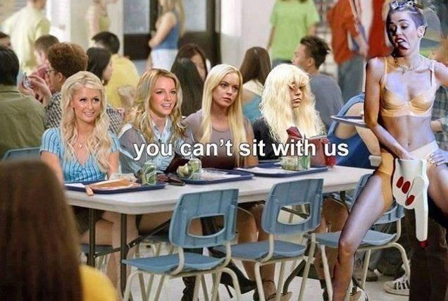 LOL hahaha  @mileycyrus  she can sit with me!  de$ha-Tron ‏@Deshasuxx