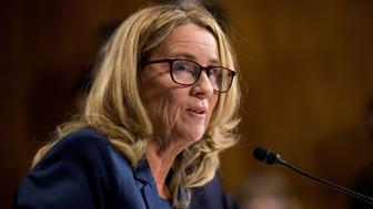 Christine Blasey Ford testifies during the Senate Judiciary Committee hearing on Capitol Hill in Washington, DC, U.S., September 27, 2018. Tom Williams/Pool via REUTERS