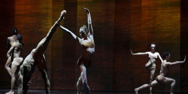 In this photo taken Thursday, Sept. 18 2014, dancers of the Joburg Ballet take part in The Nutcracker Re-imagined dress rehea