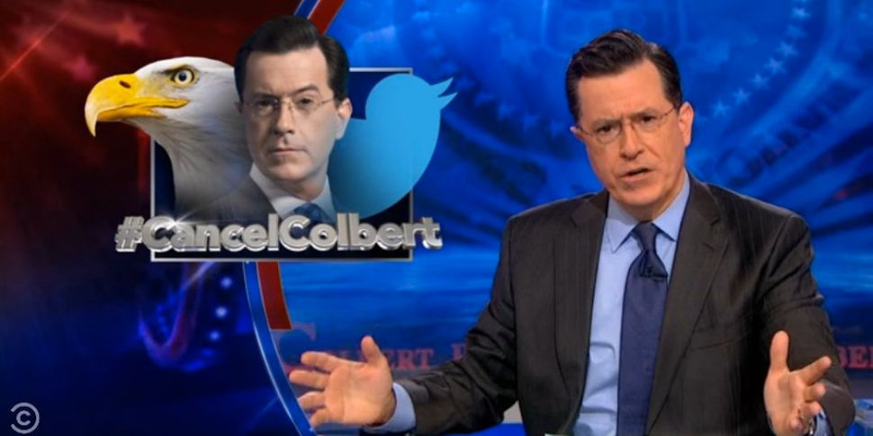 "Colbert responded to the <a href=""https://www.huffpost.com/entry/cancel-colbert-stephen-colbert_n_5068592"" target=""_blank"">#C"