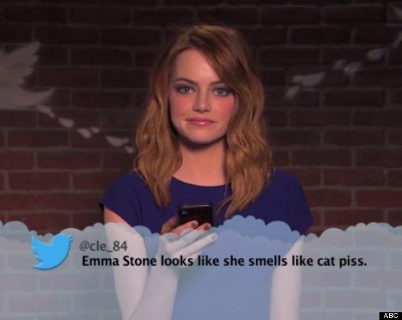 "Celebrities read more <a href=""https://www.huffpost.com/entry/celebrities-read-mean-tweets_n_5371864"" target=""_blank"">Mean Tw"