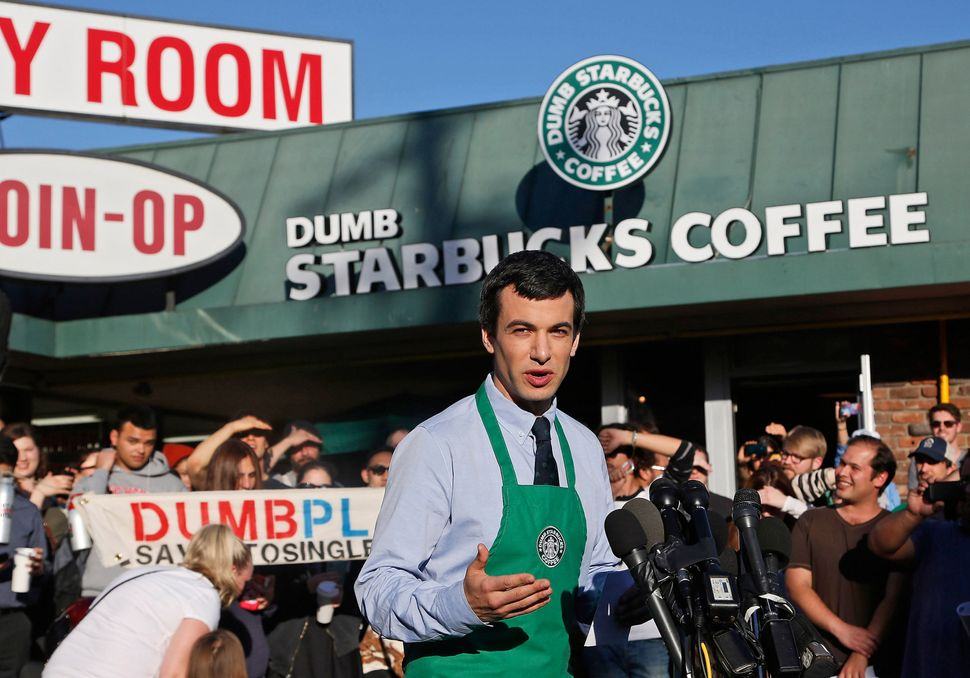 "Nathan Fielder revealed that he was the mastermind behind <a href=""https://www.huffpost.com/entry/nathan-fielder-dumb-starbuc"