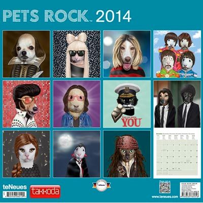 "Thanks to <a href=""http://www.calendars.com/Assorted-Dogs/Pets-Rock-2014-Wall-Calendar/prod201400002278/?categoryId=cat00188&"