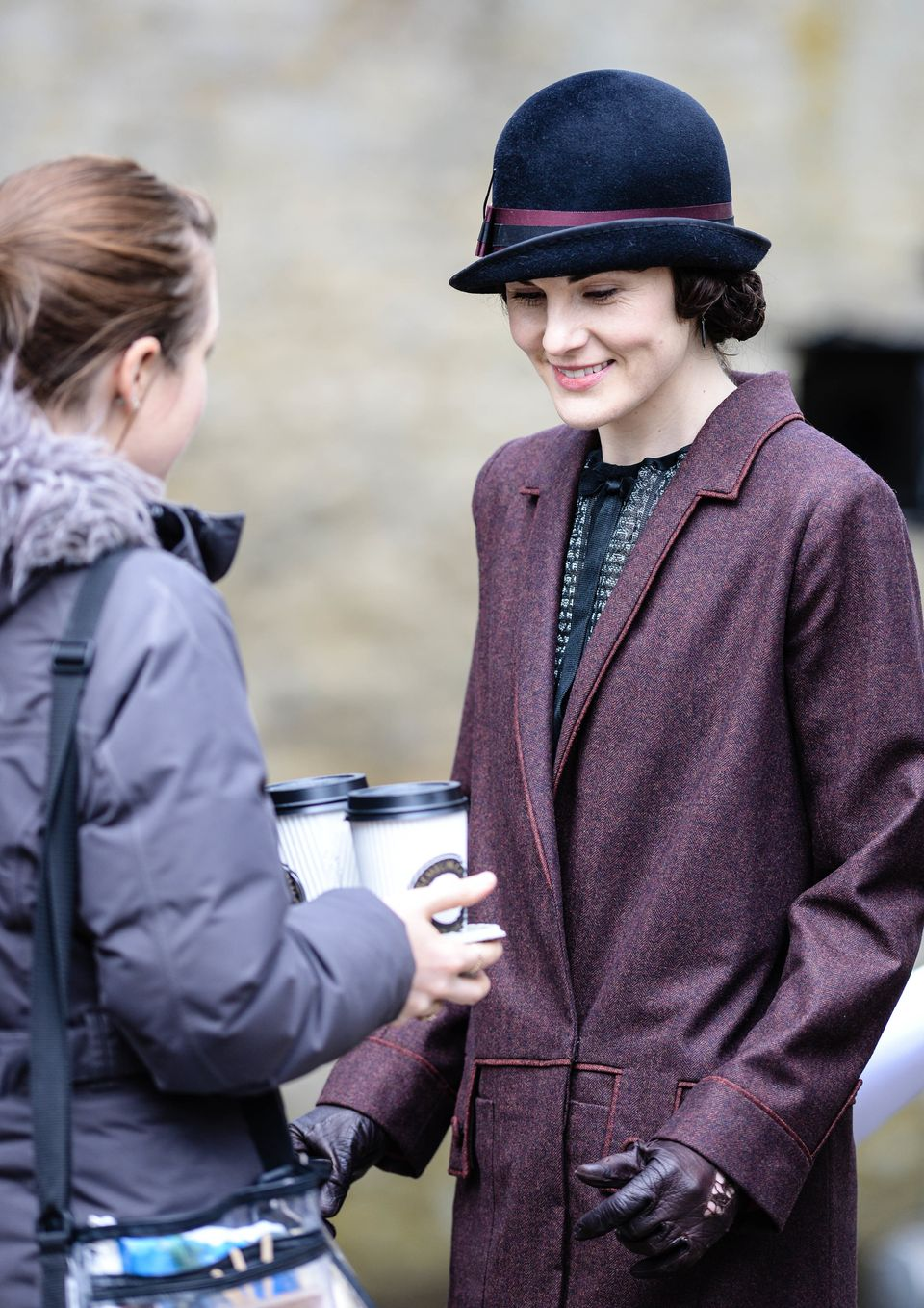 Who knew Lady Mary was such a coffee drinker?