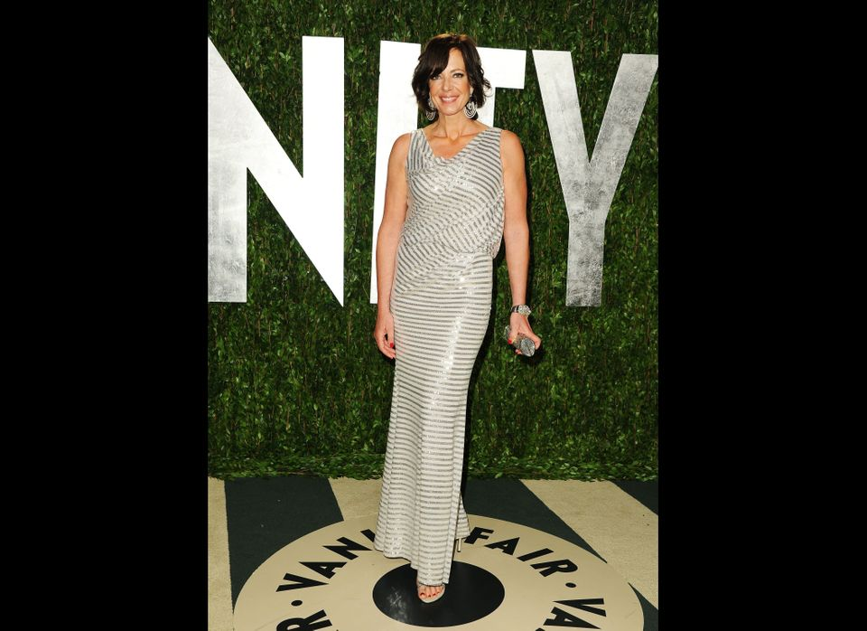 Allison Janney arrives at the 2012 Vanity Fair Oscar Party.