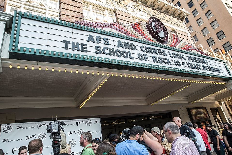 "A general view of atmosphere as seen during the ""School Of Rock"" 10-year reunion screening at Paramount Theatre on Aug. 29, 2"