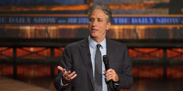 AUSTIN, TX - OCTOBER 28:  Host Jon Stewart at 'The Daily Show with Jon Stewart' covers the Midterm elections in Austin with '