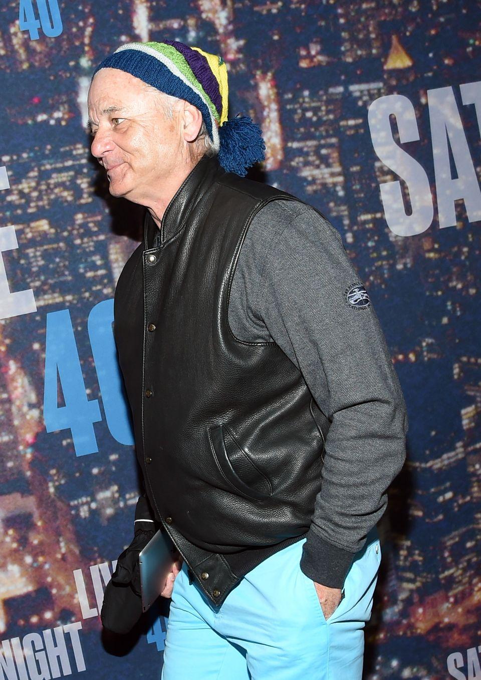 NEW YORK, NY - FEBRUARY 15:  Actor Bill Murray attends SNL 40th Anniversary Celebration at Rockefeller Plaza on February 15,