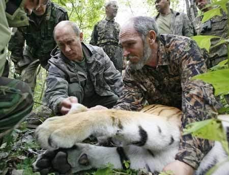 "We'd like to have him around if we ever go on safari. (From <a href=""http://www.zimbio.com/President+Vladimir+Putin/articles/"