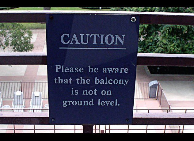 Caution: hotel management thinks you're stupid.