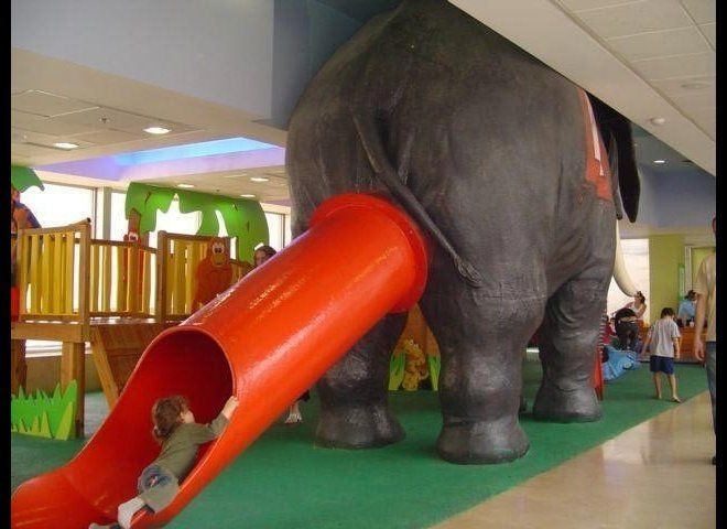 """Sure, go down the slide, kids. But when you get to the bottom, don't look behind you. (Via <a href=""""http://acidcow.com/pics/2"""
