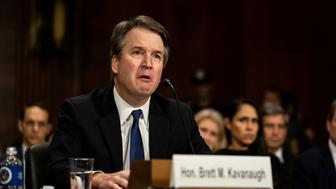 Judge Brett M. Kavanaugh testifies in front of the Senate Judiciary committee regarding sexual assault allegations at the Dirksen Senate Office Building on Capitol Hill in Washington, U.S., September 27, 2018. Erin Schaff/Pool via REUTERS