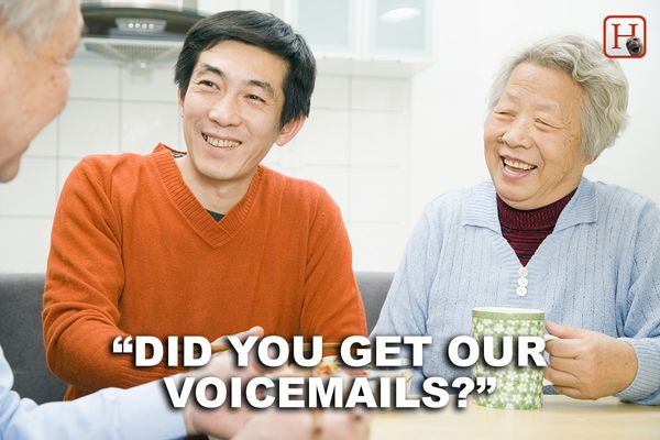 "Oh, the ten voicemails that start with silence and then you saying, ""Do I go now?"""