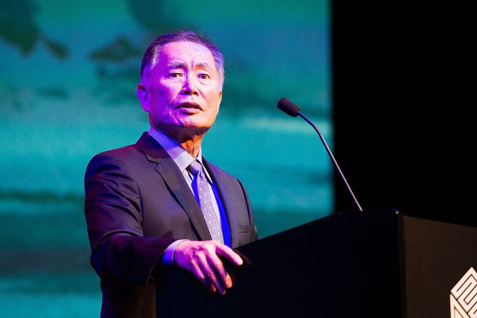 """Star Trek"" actor George Takei on Twitter: ""Outraged over Indiana Freedom to Discriminate law, signed today. LGBTs aren't 2nd"