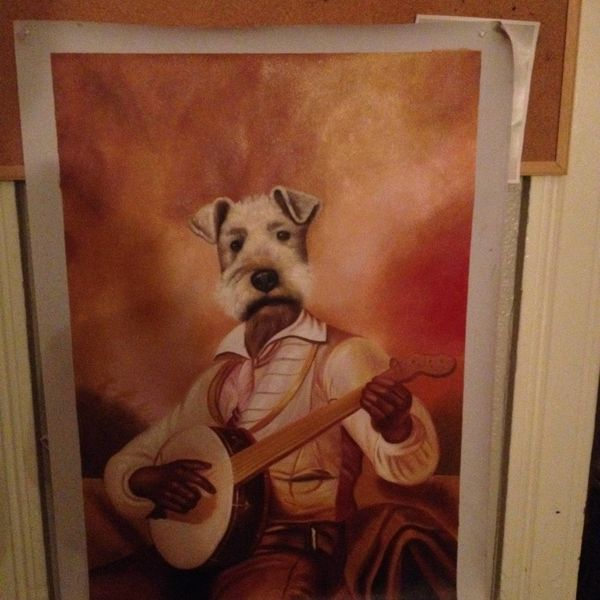 """""""About a month ago, I was drunk redditting when someone posted a picture of his roommate's drunk ebay purchase - a painting o"""