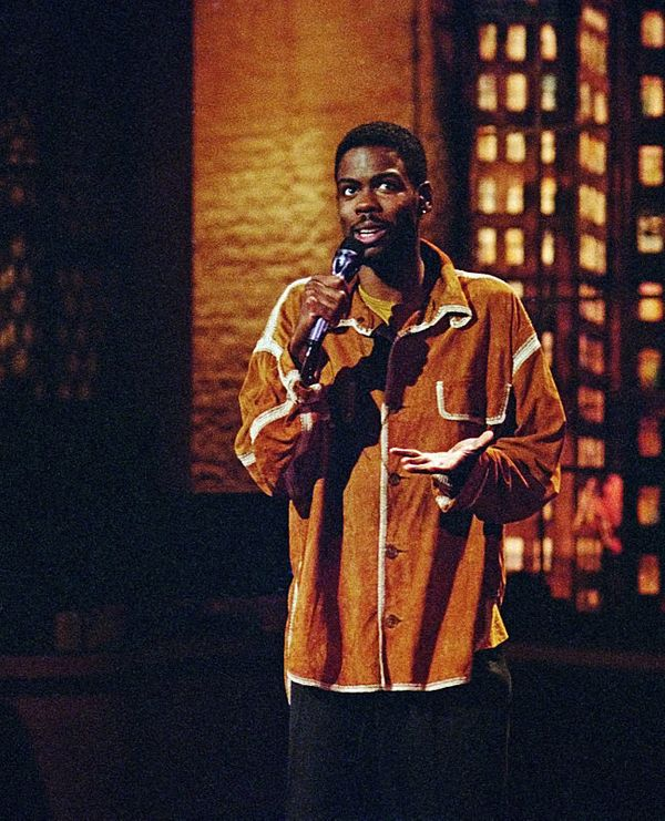 "Chris Rock performs stand-up on ""The Late Show with David Letterman,"" June 13, 1994 on the CBS Television Network. Photo: Ala"