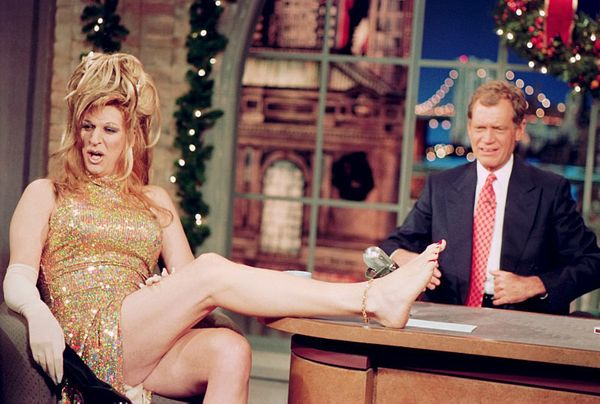 "Howard Stern in full drag on ""The Late Show with David Letterman,"" December 20, 1995 on the CBS Television Network. This phot"
