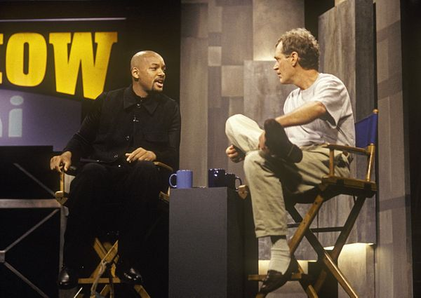 "Will Smith talks with Dave on ""The Late Show with David Letterman,"" November 22, 1996 on the CBS Television Network. This int"