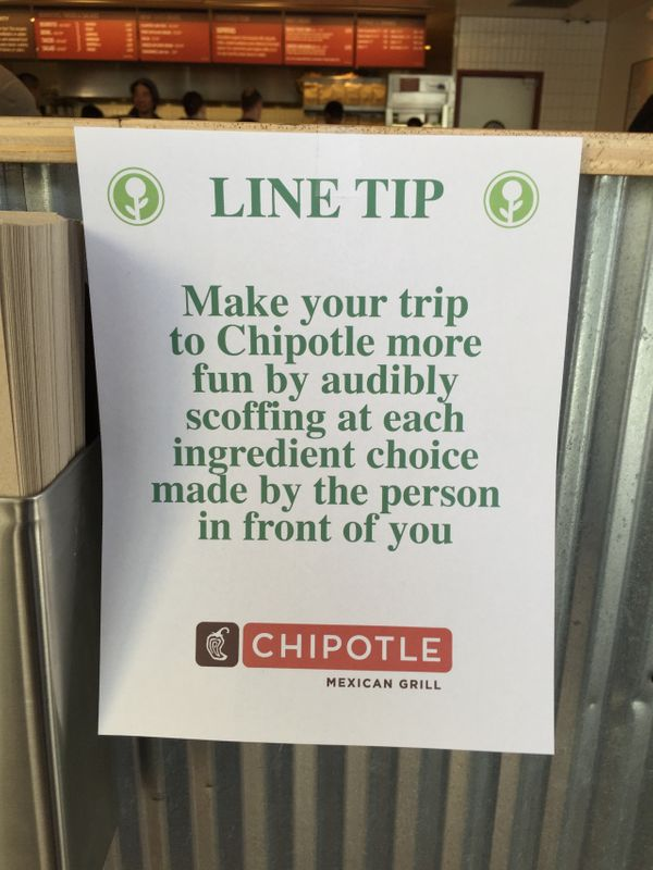 """Anything to make that long line at lunch <a href=""""http://obviousplant.tumblr.com/post/112352195598/based-off-a-tweet-i-wrote"""""""