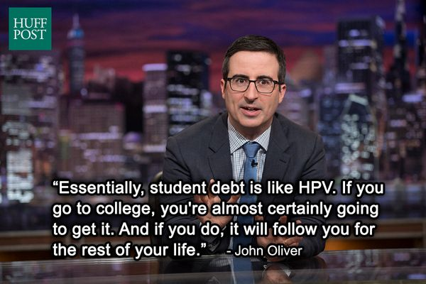 "<a href=""https://www.huffpost.com/entry/john-oliver-student-debt_n_5784266"" target=""_blank"">""Last Week Tonight"" Sept. 2014</a"
