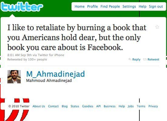 "And those Steig Larsson books too, apparently. (<a href=""http://twitter.com/M_Ahmadinejad/status/24007026734"" target=""_hplink"