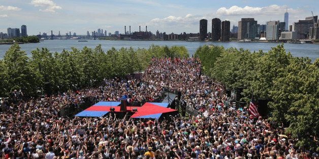 NEW YORK, NY - JUNE 13:  Democratic Presidential candidate Hillary Clinton officially launches her presidential campaign at a