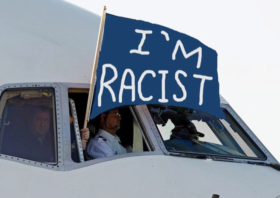 """<strong>EXAMPLE: A Flag That Just Says """"I'm Racist""""</strong>  This flag really cuts to the chase. However, it only scores a 7"""