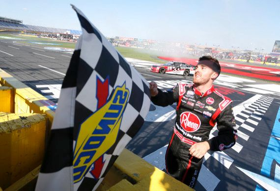 <strong>EXAMPLE: Checkered Flag</strong>  NASCAR's most recognizable flag is waved when a winner crosses the finish line. Sun