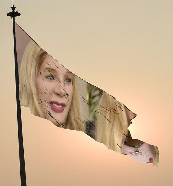 """<strong>EXAMPLE: The Movie """"White Chicks"""" Being Projected Onto A Plain Flag</strong>  This is a less prevalent manifestation"""