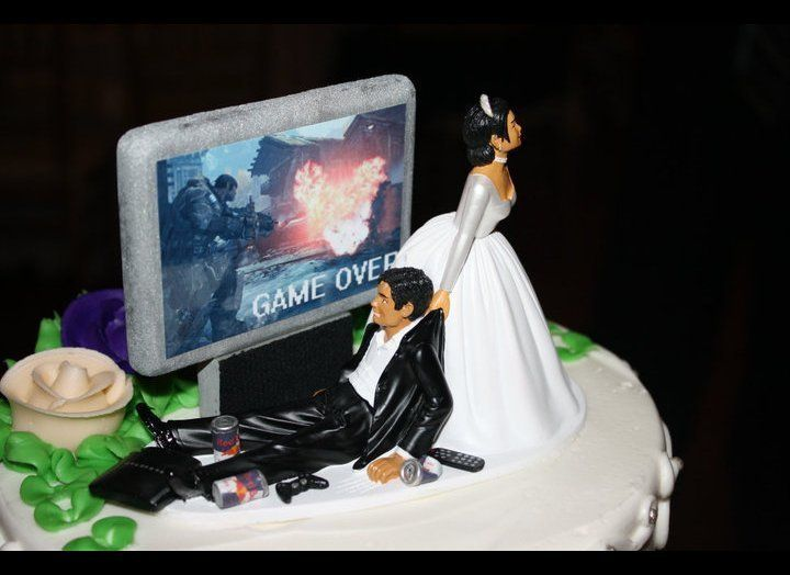 """For a lot of men, the entire wedding is just one giant """"GAME OVER"""" graphic. (via <a href=""""http://www.reddit.com/r/pics/commen"""