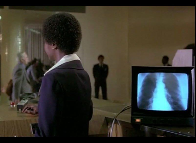 "In 1980, when ""Airplane!"" was made, the very thought of x-ray in the security line was an absurd gag."