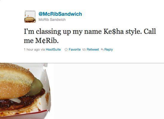 """It turns out the gooey mess that drives people mad, the <a href=""""http://twitter.com/#!/McRibSandwich"""" target=""""_hplink"""">@McRib"""