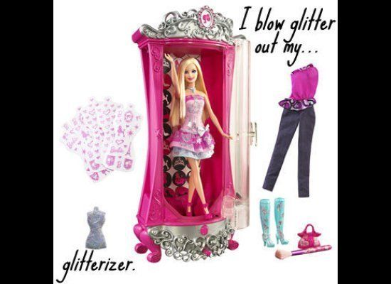 This genius of a toy basically blows glitter all over the place. Who in their right mind thought this was a good idea? I rece