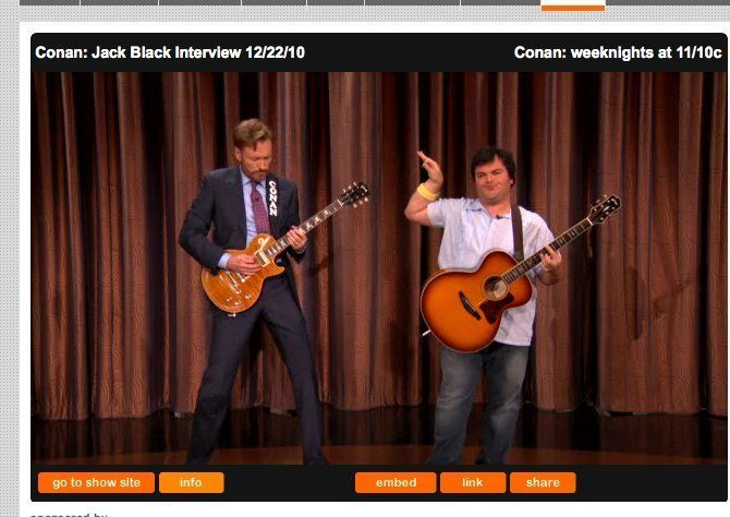 Conan & Jack Black Guitar-Off: Host Curses On Air Before Epic Guitar