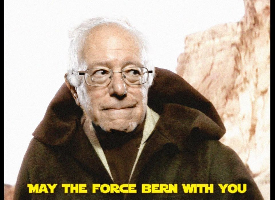 May the Force Bern with you. And also with you!