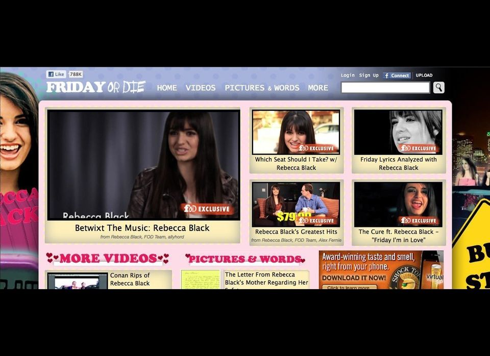 """This year, <strong>Funny Or Die</strong> is <a href=""""http://www.funnyordie.com/"""" target=""""_hplink"""">ALL Rebecca Black</a>."""