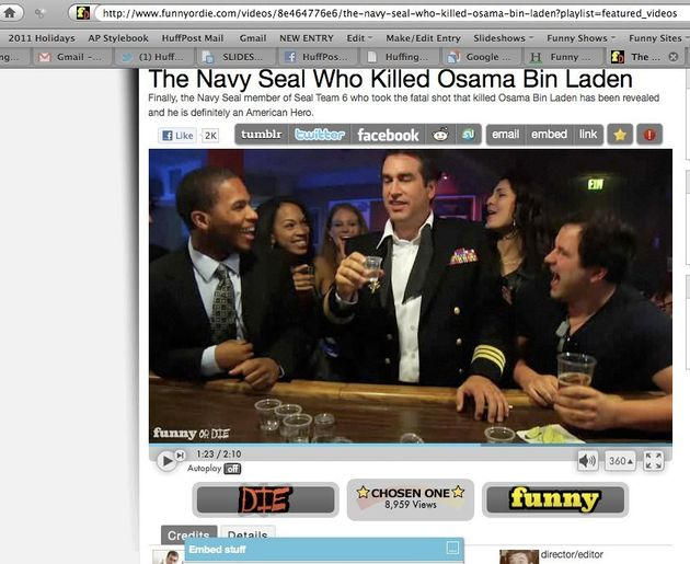 Funny Or Die: Navy Seal Who Killed Bin Laden Can't Keep It To