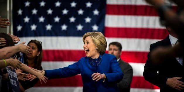 PHILADELPHIA, PA - With primary day only a day away, former Secretary of State Hillary Clinton meets and speaks to Philadelph