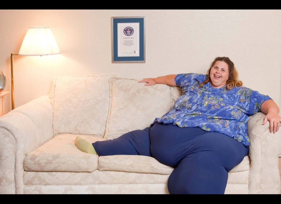 Pauline Potter, a 47-year-old, 643-pound Californian,  has earned a spot in the 2012 Guinness World Records 2012 record book