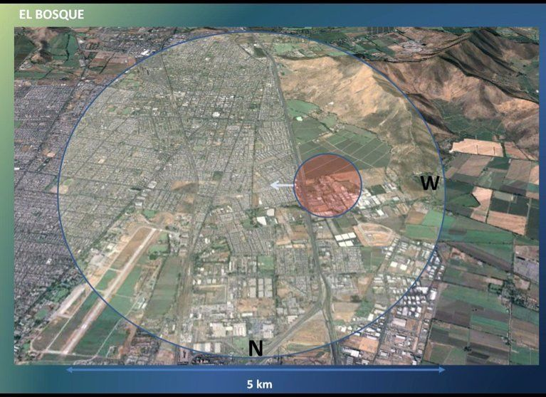 The El Bosque Air Base in Santiago, Chile, where the UFO event occurred on Nov. 5, 2010. There was an air show due to the cha