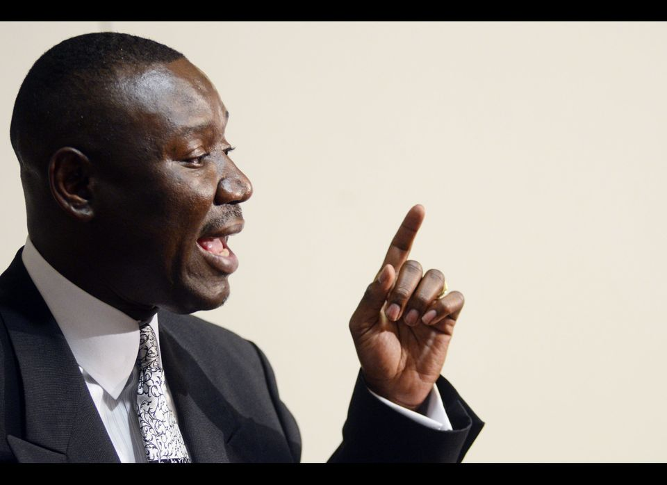Benjamin Crump, attorney, for the family of the late Trayvon Martin, talks to the media after the release of 911 call at the