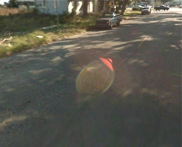 Courtesy Of Google Maps, UFOs Invade Earth | HuffPost on google earth ufo, google street view alien, google street view cat,
