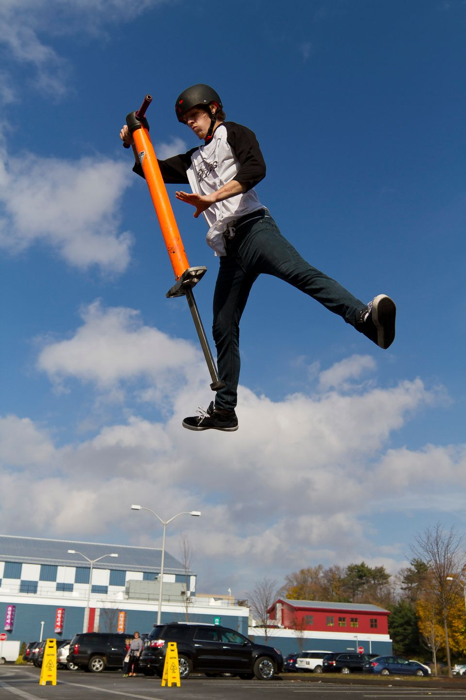 In honor of Guinness World Records Day, Tone Staubs jumped 265 times to break his own record of 257 for the Most Pogo Stick J