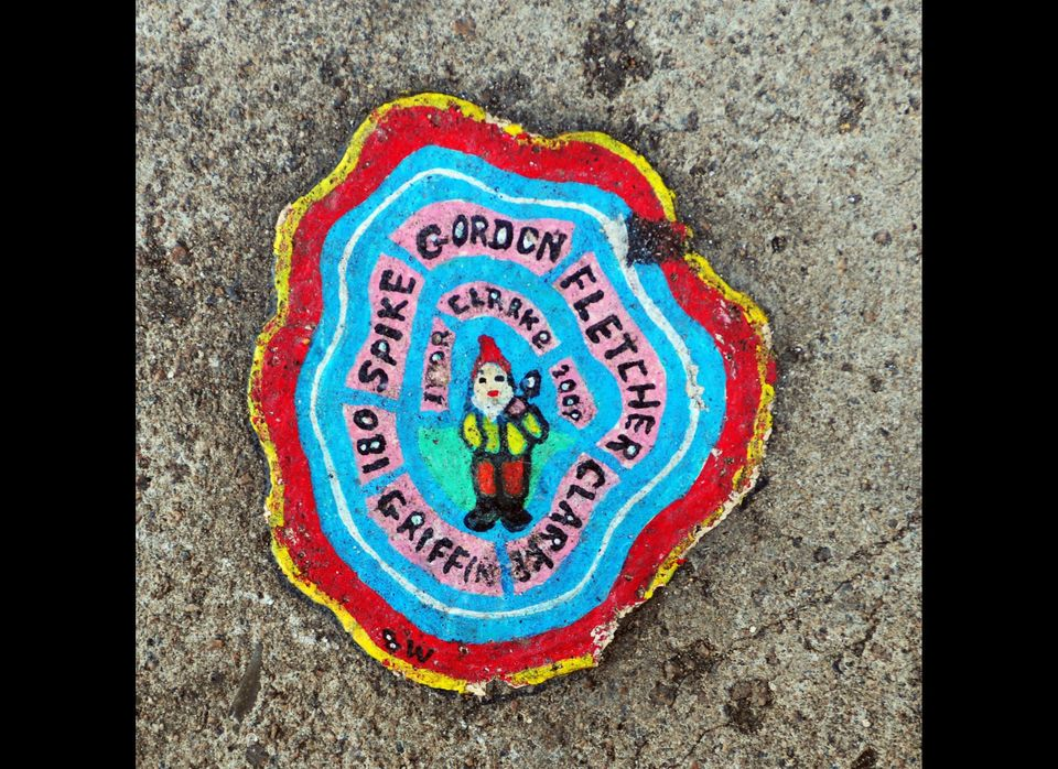 Ben Wilson Chewing Gum Art. (Photo credit: Mark Clifford/Barcroft Media)